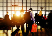 Airport Commuters Concept — Stock Photo