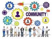 Conceito de negócio da Comunidade — Fotografia Stock