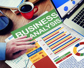 Concept of business Analysis — Stock Photo