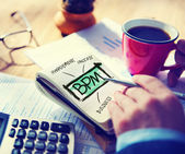 Business concept of BPM — Stock Photo