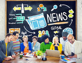 Concept of global news — Stock Photo