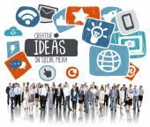 ソーシャル メディアの概念の創造的なアイデア — ストック写真