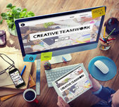 Creative Teamwork Concept — Stock Photo