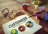 Businessman working with Customize Ideas — Stock Photo