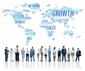 Business people with Global Success Concept — Stock Photo