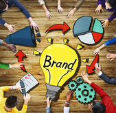 People and  Brand Innovation Trademark Symbol Concepts — Stock Photo