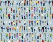 Concept de gens occasionnels multiethnique — Photo