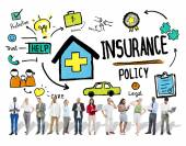People and Insurance Policy Concept — Stock Photo