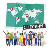Group of People and Check In Concept — Stock Photo