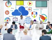 Diverse people at meeting — Stock Photo