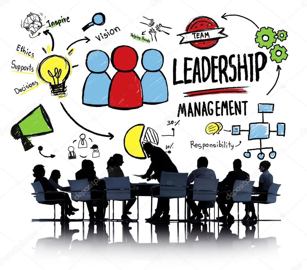 形形色色的人与领导管理会议讨论概念的会议– 图库图片