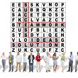 Success Crossword Puzzle, Words teamwork, ideas, solution — Stock Photo #71601811