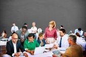 Människor möte på konferensen, grupparbete och diskussion — Stockfoto