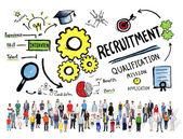 Multi Ethnic Group People Recruitment — Stock Photo