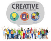 People and Creative Innovation Concept — Stock Photo