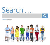 People and Search Browse Find — Stock Photo