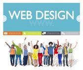 Conception web et de personnes — Photo