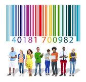 Barcode und Identität Marketingkonzept — Stockfoto