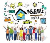 Casual People and Insurance Policy Concept — Stock Photo
