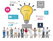 Ideas and Inspiration, Creativity, Biz, Infographic, Innovation — Stock Photo