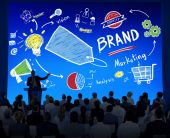 Business People at Conference about Brand — Stock Photo