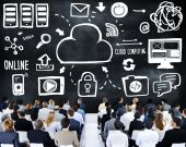 Business People and Cloud Computing Concept — Stock Photo