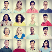 Diversity, group of People portrait, Community and Happiness — Stock Photo