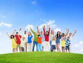 Multiethnic Group of People Celebration — Stock Photo