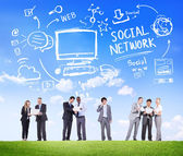 Business People and Social Network — Stock Photo