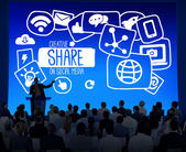 People at seminar about Share — Stock Photo