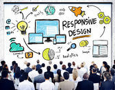 People at seminar about Responsive — Stock Photo