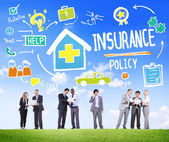 Business People during Insurance Policy Discussion — Stock Photo