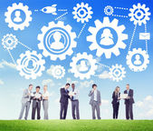 Działalności zespołu partnerstwie Wspólnoty — Zdjęcie stockowe