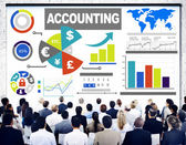 Diverse people and Accounting Analysis — Stock Photo