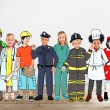 Group of children in various professions — Stock Photo #71629971