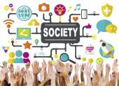 Diverse hands and Society Concept — Stock Photo