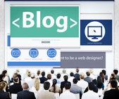 Business People at Blog Seminar — Stock Photo