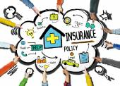 Diversity Hands Insurance Policy — Stock Photo