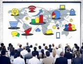 People at seminar about Marketing — Stock Photo