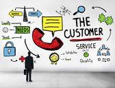 Обслуживание клиентов, концепция помощи — Стоковое фото