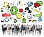 Różnych ludzi i pracy zespołowej koncepcji — Zdjęcie stockowe