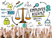 Diverse hands and Employee Rights — Stock Photo