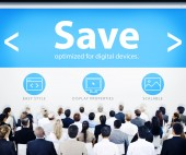 Business People and Save Concept — Stock Photo