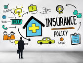 Businessman and Insurance Policy Concept — Stock Photo