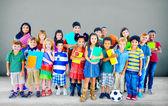 Group of Multiethnic school kids — Stock Photo
