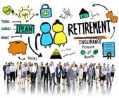 Business People Employee Retirement Vision Aspiration Career Con — Stock Photo