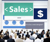 Business People and Sales Concept — Stock Photo