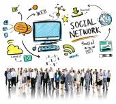 People and Social Network Concept — Stock Photo
