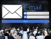 Diverse people and Email Concept — Stock Photo