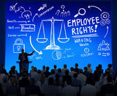 People at seminar about Employee Rights — Stock Photo